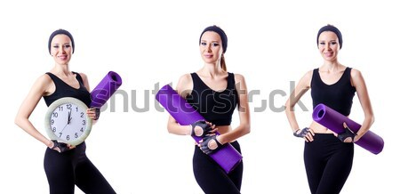 Woman with centimeter in health concept Stock photo © Elnur