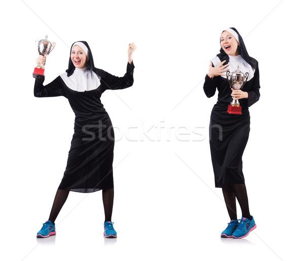 Giovani suora religiosa donna sport bellezza Foto d'archivio © Elnur