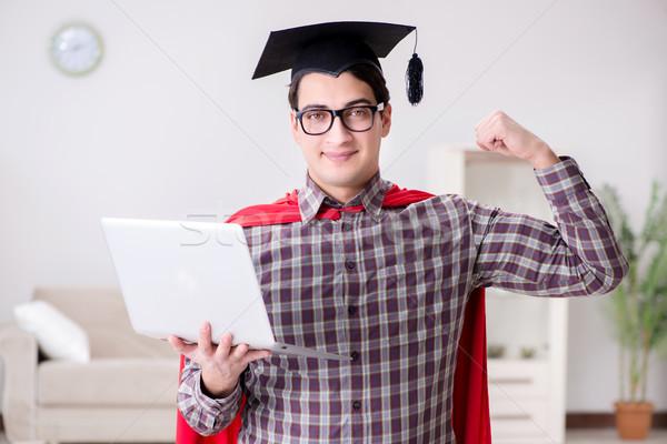 Foto stock: Estudiante · portátil · ordenador