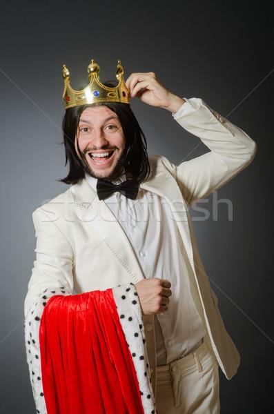Rey empresario real negocios hombre trabajo Foto stock © Elnur