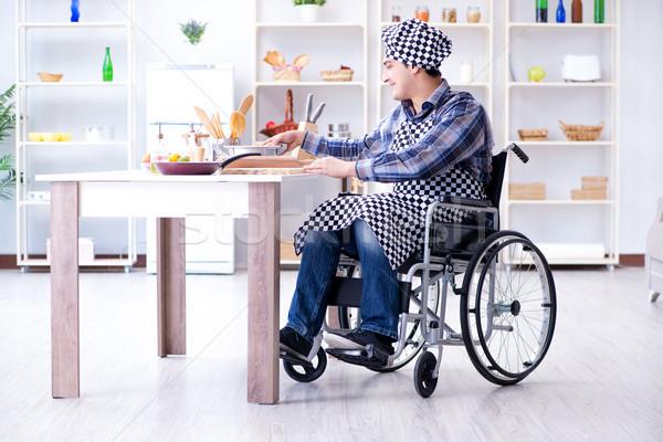 инвалидов молодым человеком муж рабочих кухне человека Сток-фото © Elnur