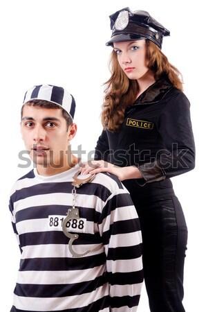 полиции тюрьмы заключенный белый человека прав Сток-фото © Elnur