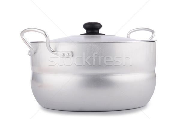 Alüminyum pot yalıtılmış beyaz gıda Metal Stok fotoğraf © Elnur