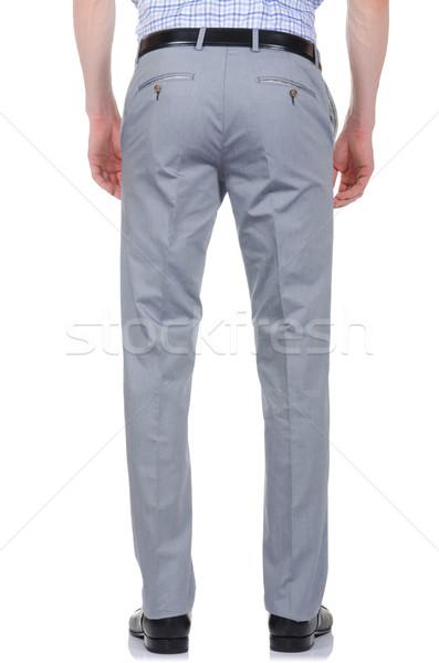 Divat nadrág fehér modell háttér farmer Stock fotó © Elnur