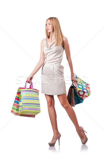 Attractive woman after good shopping Stock photo © Elnur