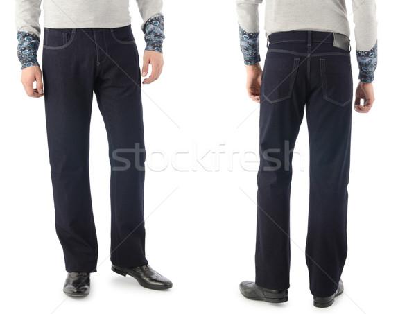 брюки модель изолированный человека джинсов черный Сток-фото © Elnur