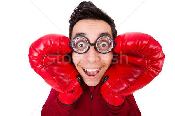 Funny boxeador aislado blanco trabajo deporte Foto stock © Elnur