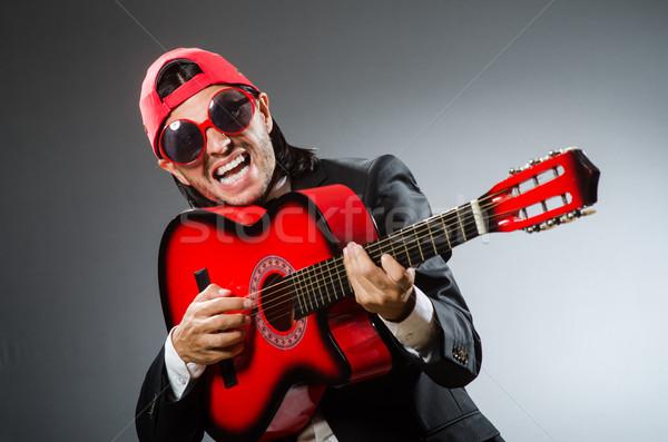 Komik stüdyo müzik parti gitar Stok fotoğraf © Elnur