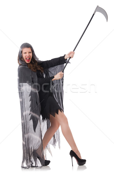 Woman in halloween concept with scythe Stock photo © Elnur