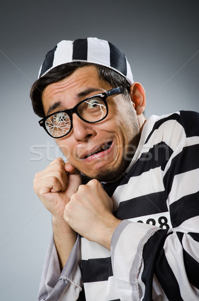 Carcere detenuto divertente uomo lock libertà Foto d'archivio © Elnur