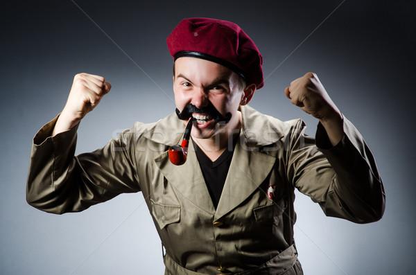 смешные солдата военных человека зеленый войны Сток-фото © Elnur