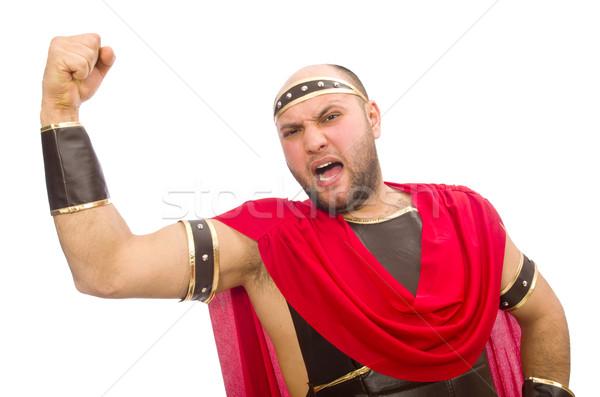 Gladiator isolated on white Stock photo © Elnur