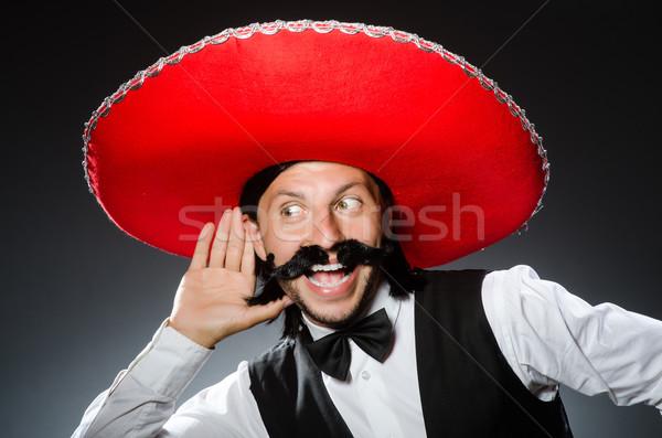 Engraçado mexicano sombrero festa feliz retro Foto stock © Elnur