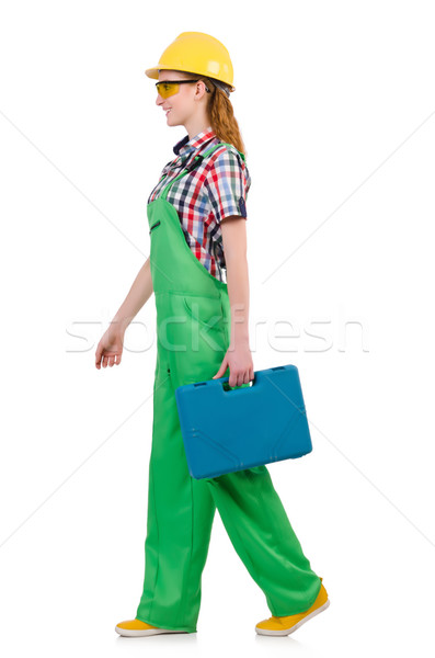 Woman with toolkit isolated on white Stock photo © Elnur