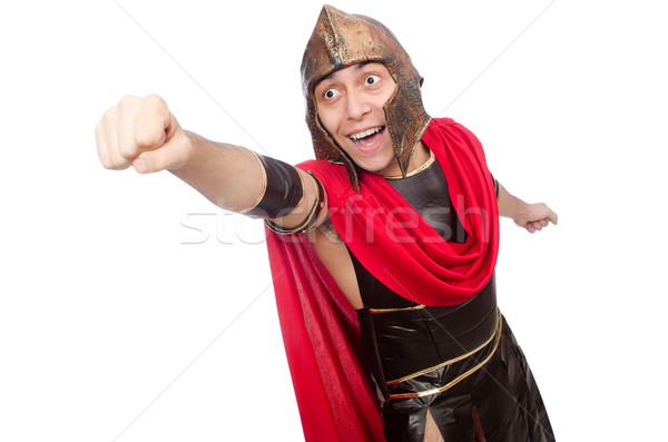 Gladiator geïsoleerd witte gelukkig Rood grappig Stockfoto © Elnur