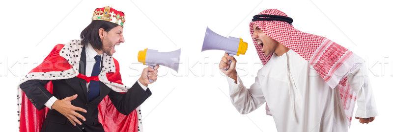 Arabes homme roi haut-parleur isolé Photo stock © Elnur