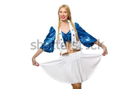Nő pompomlány izolált fehér szexi tánc Stock fotó © Elnur