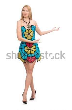 Woman in Oktoberfest concept on white Stock photo © Elnur