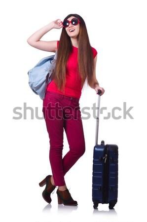 Jonge vrouw zomervakantie meisje gelukkig mode achtergrond Stockfoto © Elnur