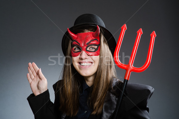 Funny devil in halloween concept Stock photo © Elnur
