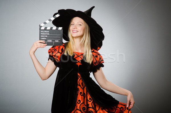 Witch with the movie clapboard  Stock photo © Elnur