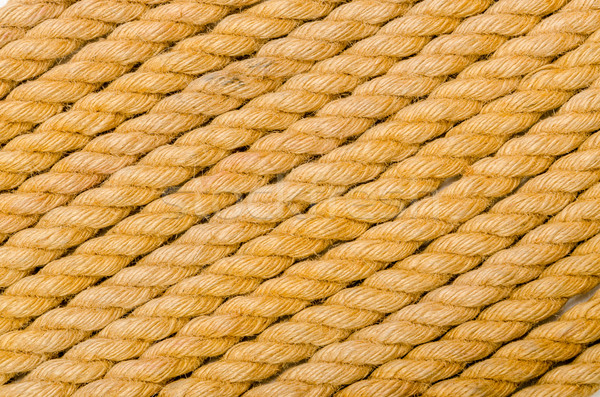 Close up of rope arranged as background Stock photo © Elnur