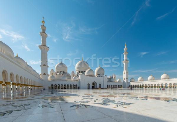 Сток-фото: мечети · Абу-Даби · город · дизайна · Азии · Панорама