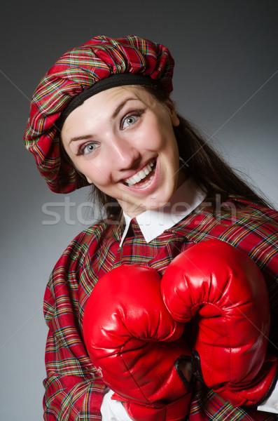 Stok fotoğraf: Kadın · giyim · boks · kız · spor · uygunluk