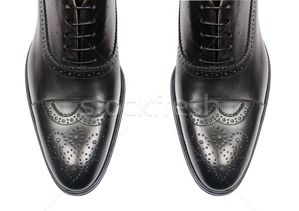 Tip mannelijke schoenen geïsoleerd witte mode Stockfoto © Elnur