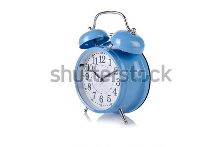 The alarm clock in time concept isolated on white Stock photo © Elnur