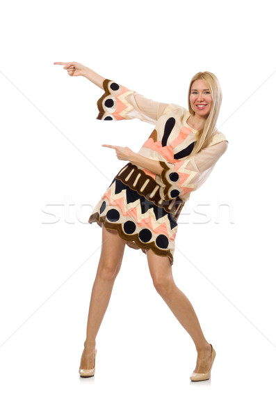 Blond hair model wearing designer clothes isolated on white Stock photo © Elnur