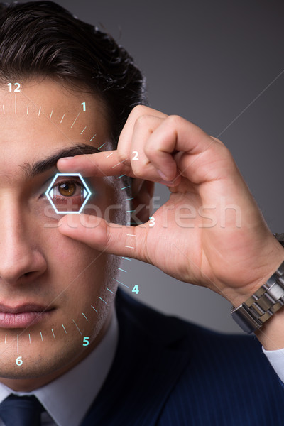 Futuristic vision concept with businessman Stock photo © Elnur