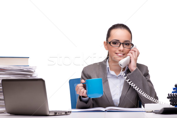 Young businesswoman in office isolated on white Stock photo © Elnur
