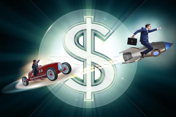 Verseny üzletemberek versenyző pénz út üzletember Stock fotó © Elnur