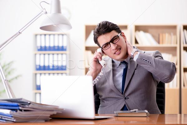 Zakenman gevoel pijn kantoor business hand Stockfoto © Elnur