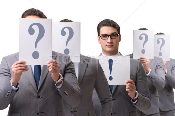 Imprenditore rispondere molti domande lavoro successo Foto d'archivio © Elnur