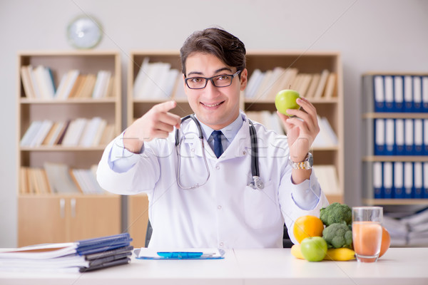 The scientist studying nutrition in various food Stock photo © Elnur