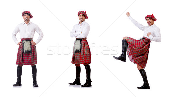Concept with funny scotsman isolated on white Stock photo © Elnur