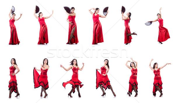 Kobiet tancerz taniec hiszpanski kobieta dziewczyna Zdjęcia stock © Elnur