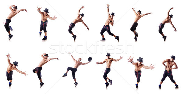 Ripped dancer isolated on the white Stock photo © Elnur