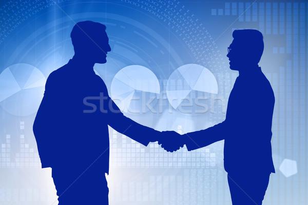 Negócio cooperação empresários mão feliz trabalhar Foto stock © Elnur