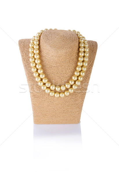 Pearl necklace isolated on the white background Stock photo © Elnur