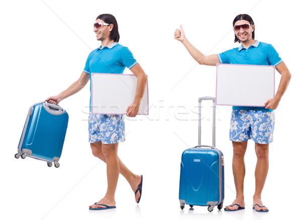 Turismo isolato bianco uomo spazio Foto d'archivio © Elnur