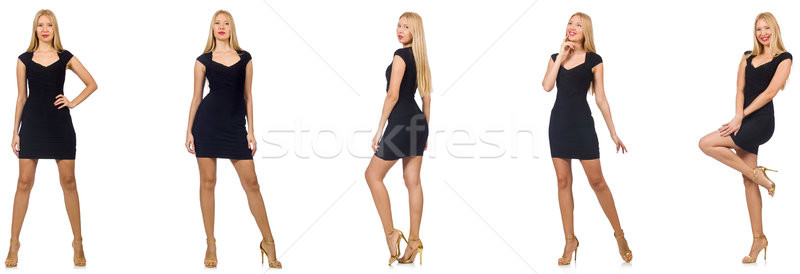 The collage of woman in fashion look isolated on white Stock photo © Elnur