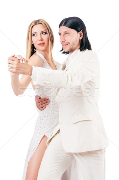пару танцы изолированный белый человека спорт Сток-фото © Elnur