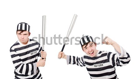 Pair of prisoners isolated on white Stock photo © Elnur