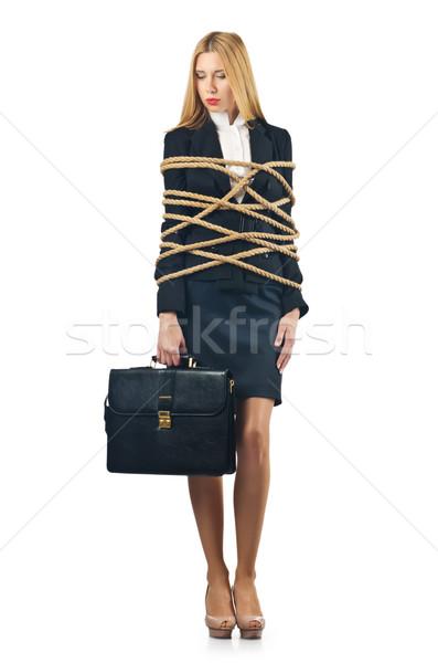 Stockfoto: Vrouw · business · laptop · achtergrond · veiligheid · zakenman