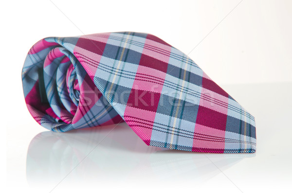 優雅 絲綢 男 領帶 領帶 白 商業照片 © Elnur