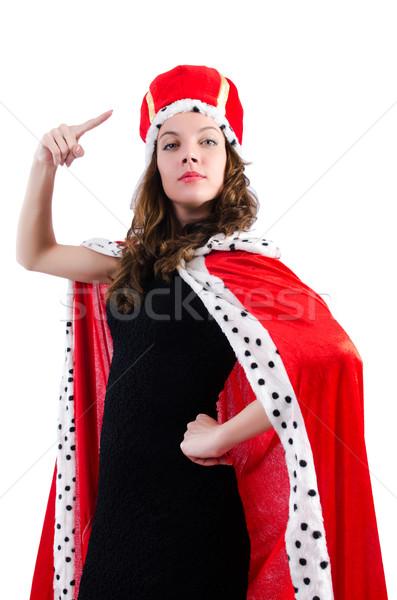 Königin Geschäftsfrau isoliert weiß Arbeit Geschäftsmann Stock foto © Elnur