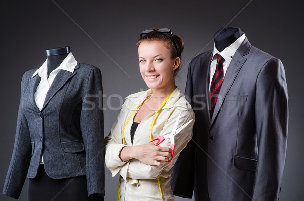 Kadın terzi çalışma giyim moda çalışmak Stok fotoğraf © Elnur